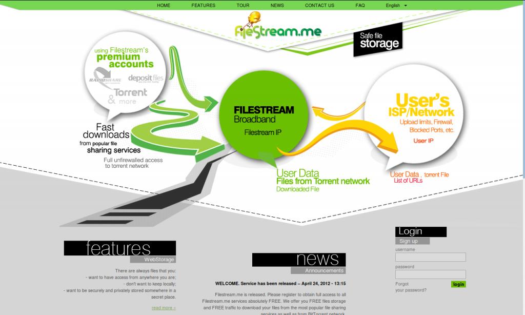 Beta version of FileStream.me