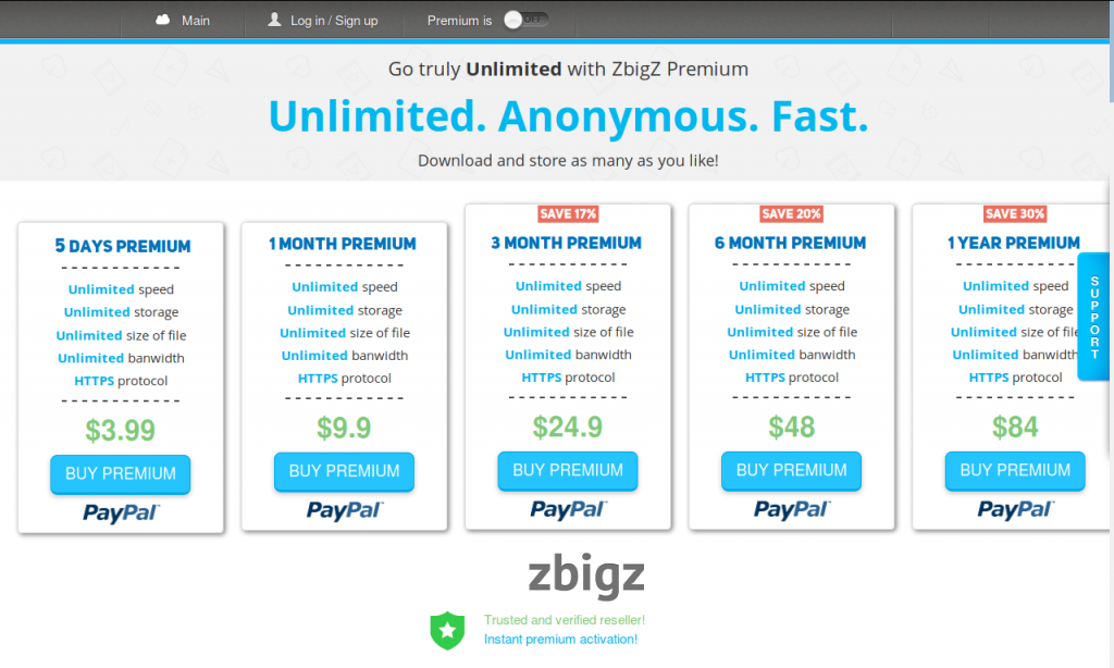 Pricing on ZbigZ